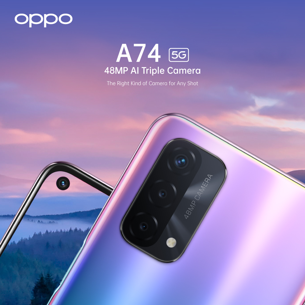 OPPO A74 5G - 48MP AI Quad Camera Phone
